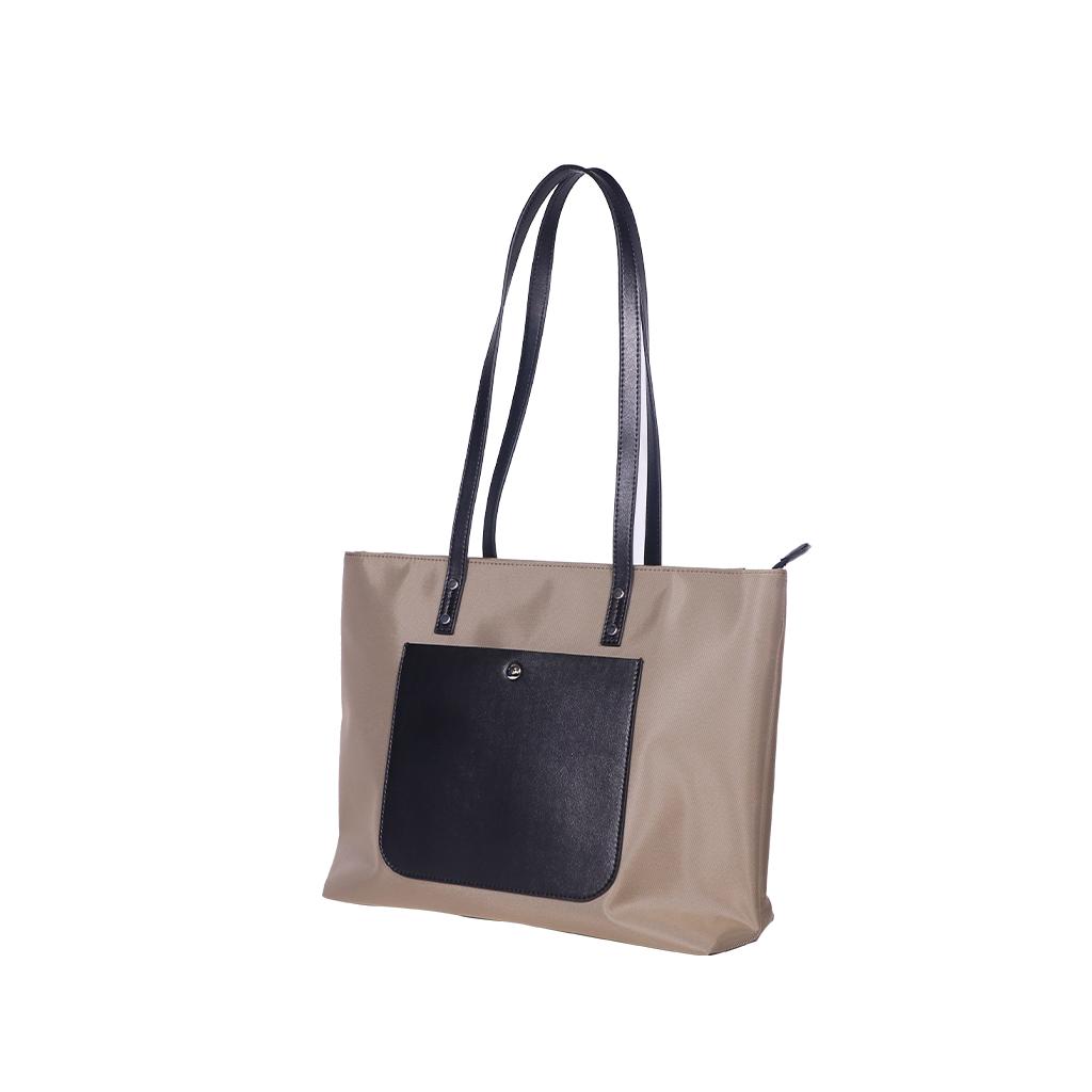 Women Fashion Single  Shoulder  Bag Simple Casual Large-capacity Drone Storage Bag Brown + silk scarf