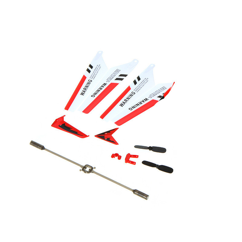Full Set Replacement Parts for Syma S107 RC Helicopter, Main Blades, Main Shaft,Tail Decorations, Tail Props, Balance Bar, Gear Set,Connect Buckle-Red Set-