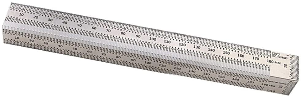 T Square Stainless Steel High-precision Carpentry  Ruler For Woodworking 180MM