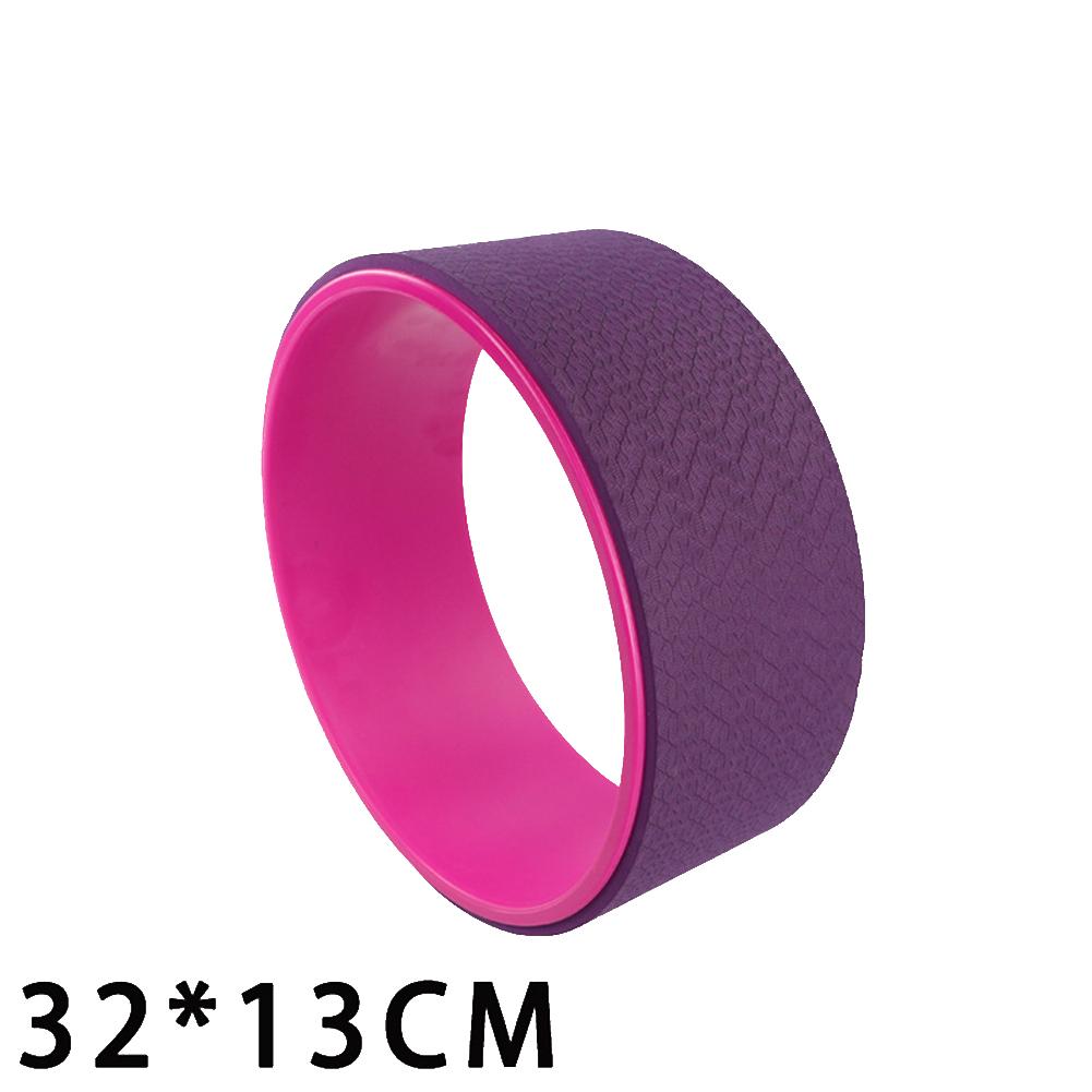 Yoga  Pilates  Circle Yoga Fitness Roller Wheel For Back Training Tool Slimming Magic Waist Shape Pilates Ring Pink purple