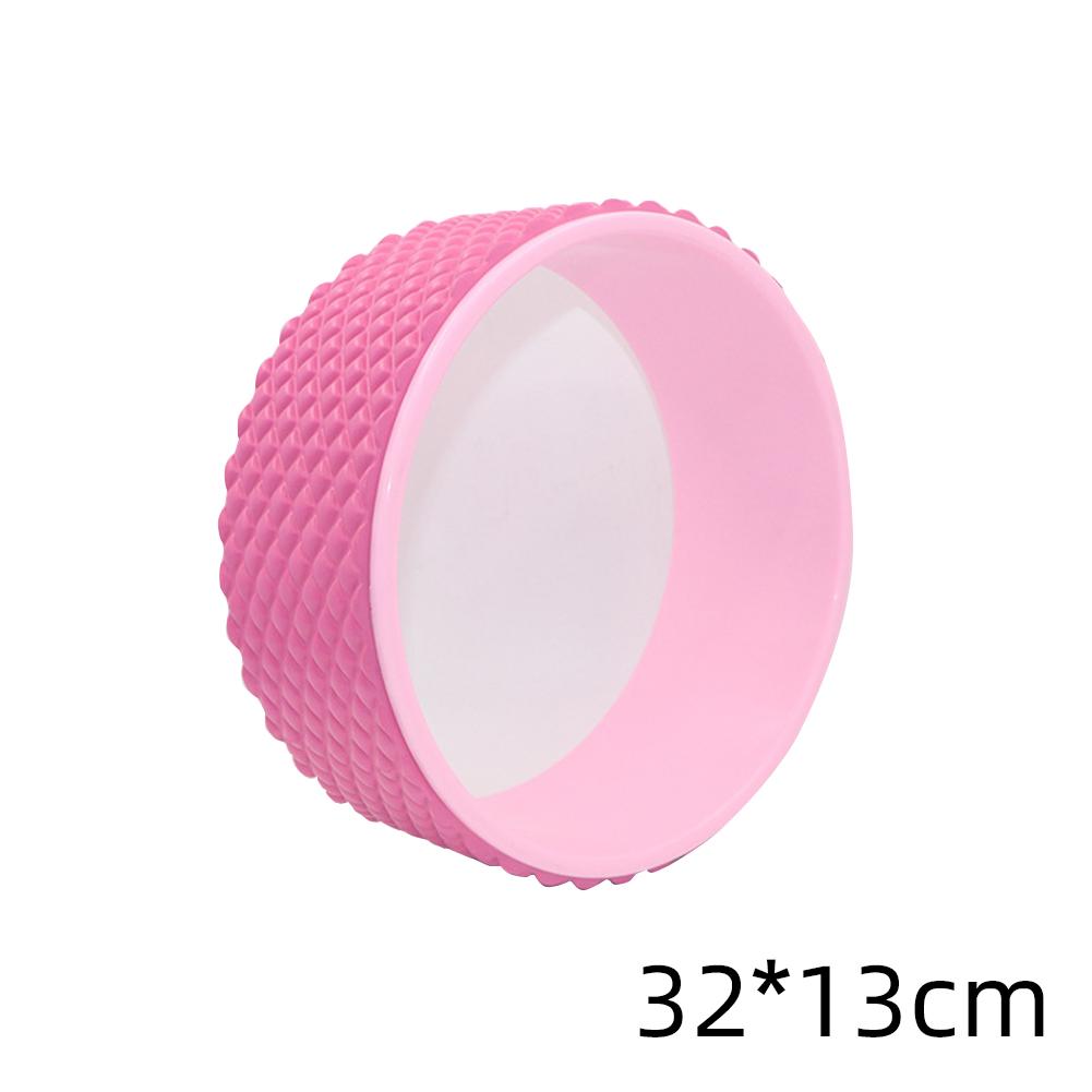 Yoga  Pilates  Circle Yoga Fitness Roller Wheel For Back Training Tool Slimming Magic Waist Shape Pilates Ring Pink rubberized yoga wheel