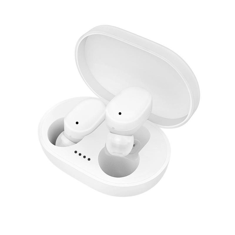 A6s Tws Wireless Bluetooth Headset Ipx4 Waterproof Dustproof Handsfree Noise Reduction Earphones white