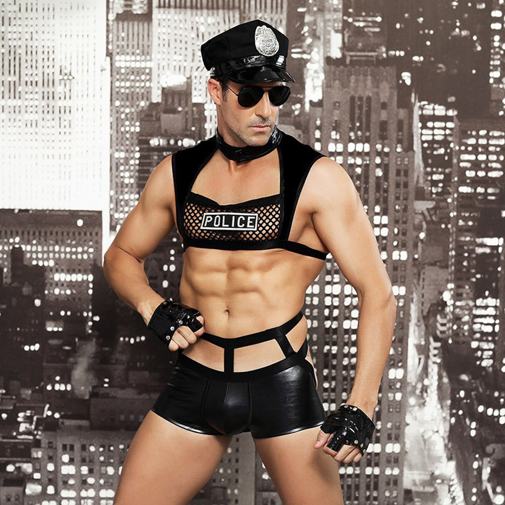 Men's Lingerie Sexy Uniforms Bars Nightclubs Role Performances Sexy Lingerie free size