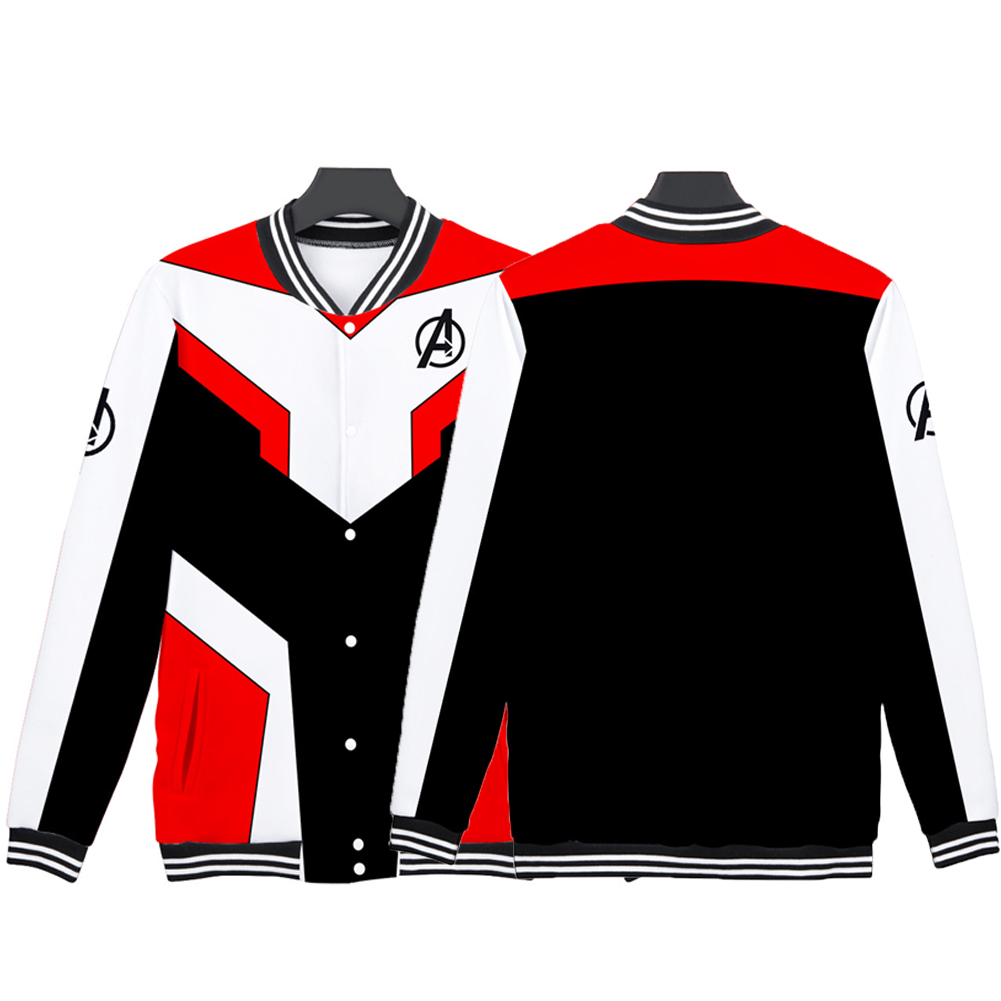 Avengers 4 Endgame Quantum Realm Battle Cosplay Suit Sweater Costume Tops Q-3836-YH04_S