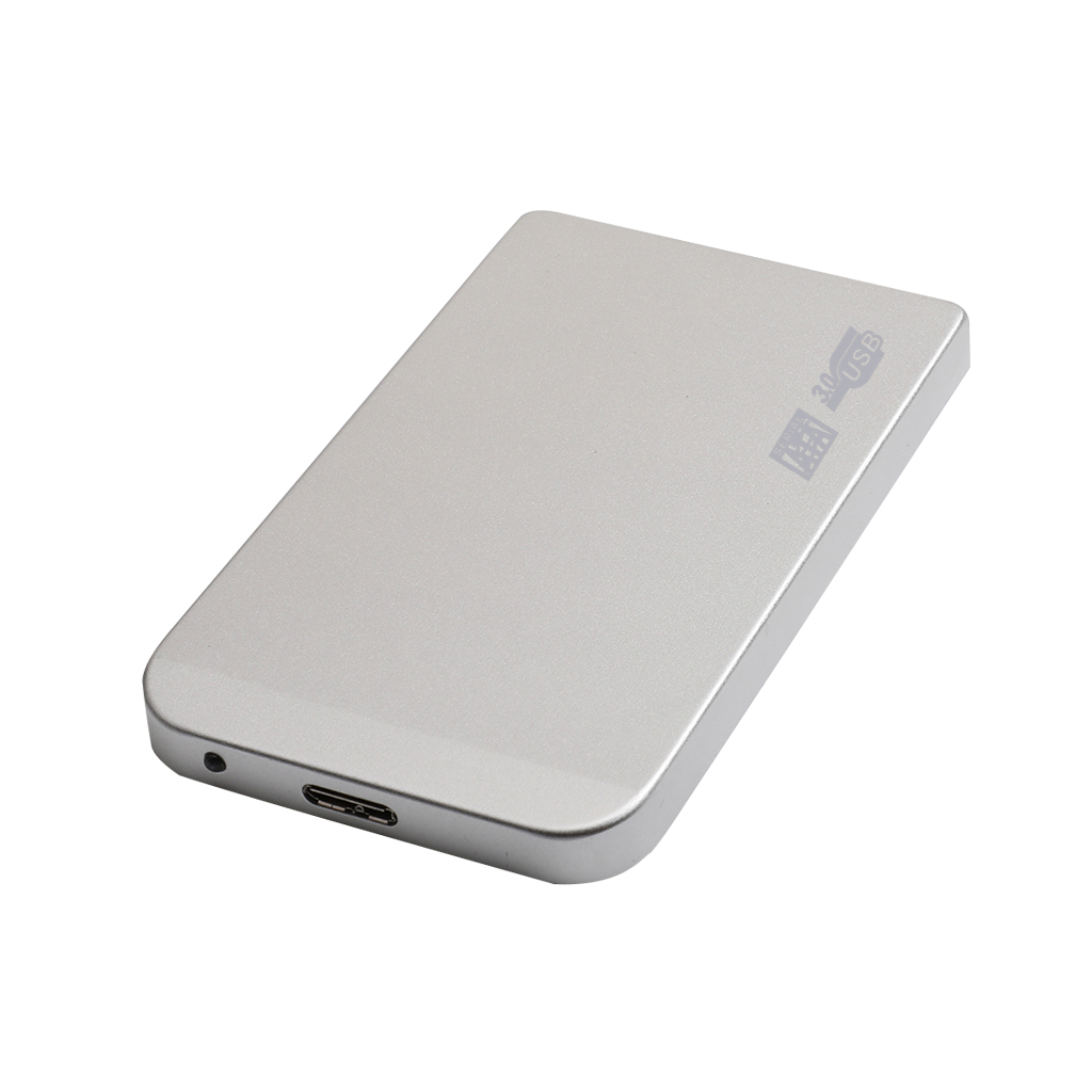 Android to 3.0 Mechanical Hard Disk Metal Black Silver Supports for EXFAT and WIN Systems Silver