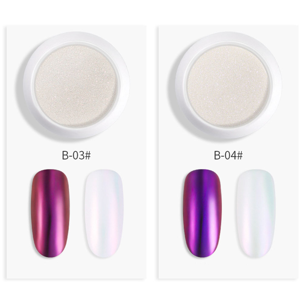 Nail Glitter Powder Pearl Shell Shimmer Powder DIY Nail Pigment Pearl Powder 4#