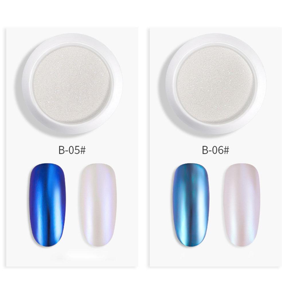 Nail Glitter Powder Pearl Shell Shimmer Powder DIY Nail Pigment Pearl Powder 6#