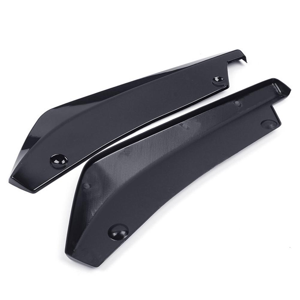 2Pcs/pair Universal Carbon Fiber Rear Bumper Lip Diffuser Splitter Scratch Protector Black