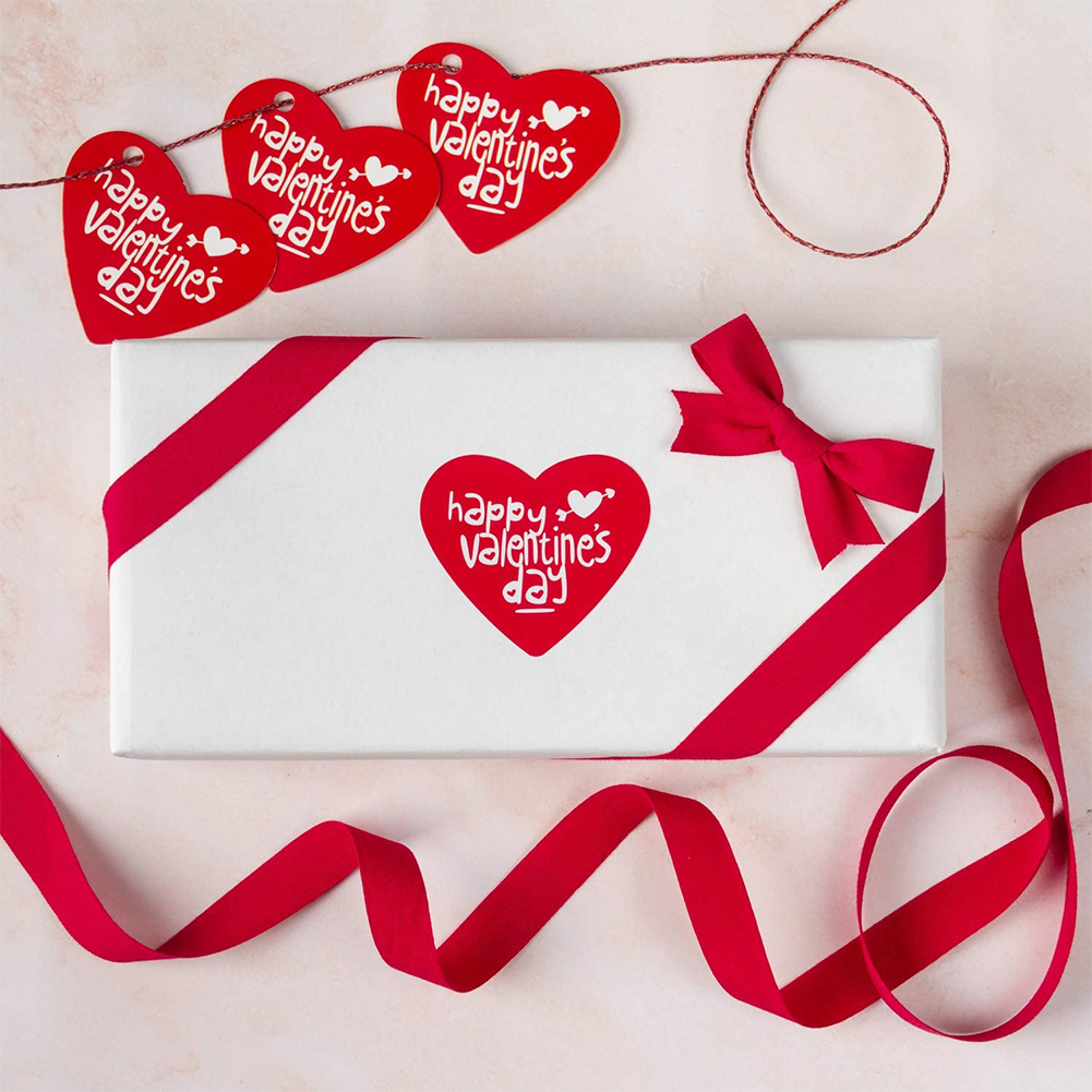 3 Rolls Paper Love Heart Gift Label  Sticker For Valentine Day Party Gift Sealing Sticker 3pcs/set_38*42mm