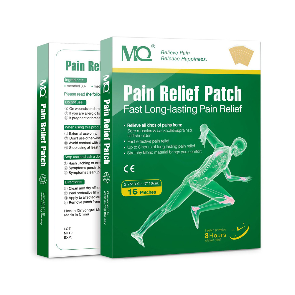 16 Pcs/Box Analgesic Plaster Pain Patch Relief Muscle Aches Treatment Herbal Pain Patch green_16pcs/box