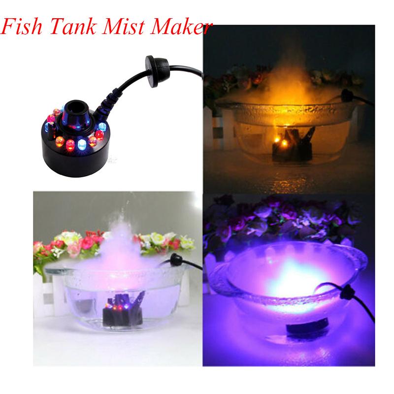 12 LEDs Large Spray Volume Mist Maker Fogger Water Fountain Artware Humidifier Accessories Plastic 12 light single