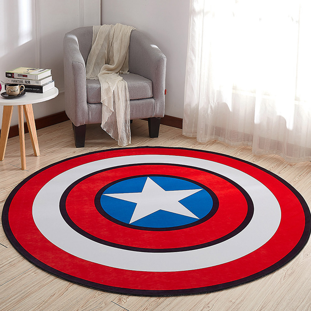 Non Slip Cartoon Printing Round Crawling Carpet for Computer Chair Kids Room Round 6_60cm