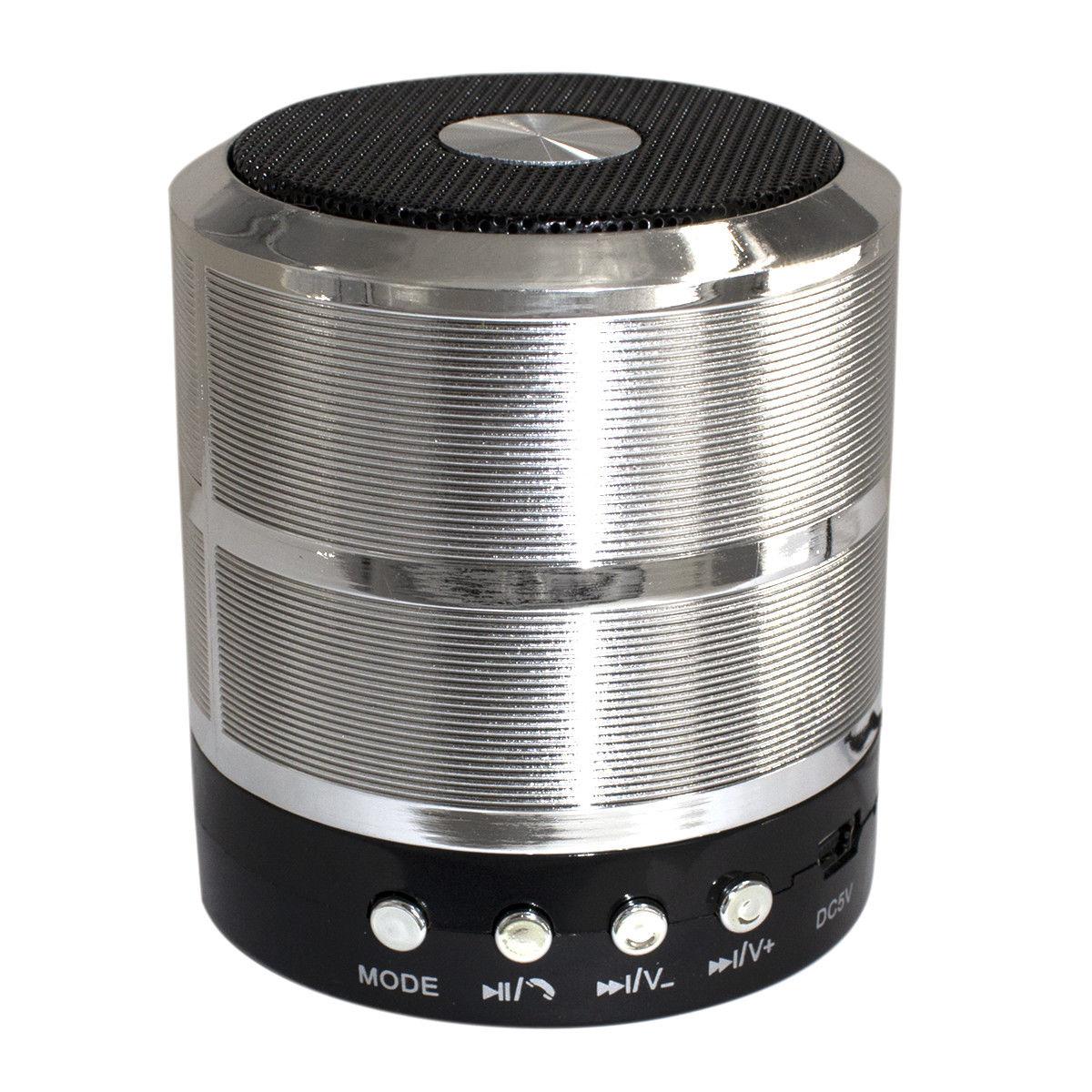 Mini Portable Bluetooth Wireless Speaker Super Bass for iPhone Samsung  Silver grey