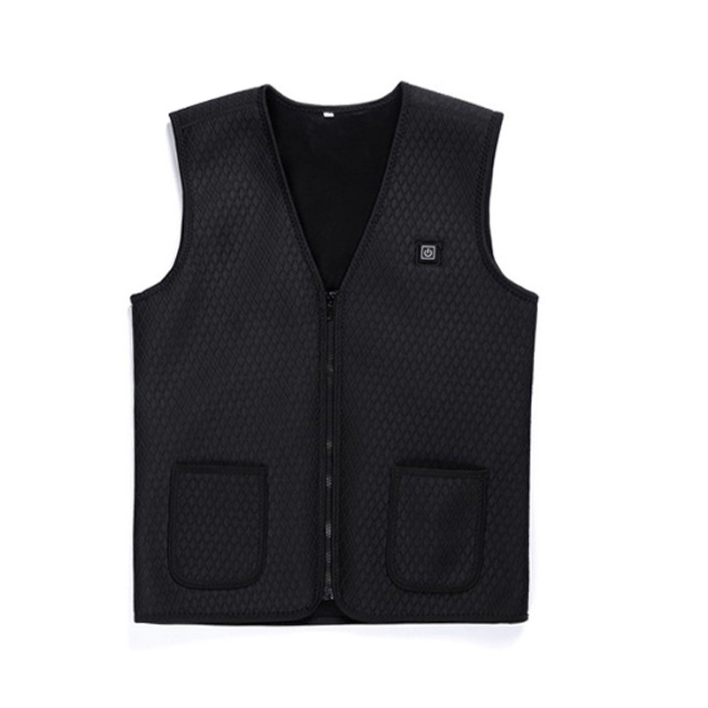 Electric Heating Vest Or Mobile Power Self-heating Clothes Waist  Protection Vest For Men Women Black_xxl