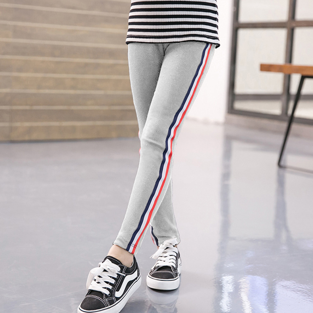 Kids Girl Pants Pure Cotton Fashion Sports Leggings for Girls Solid Color Pencil Pants gray_140 yards (suitable for height 130-140cm)