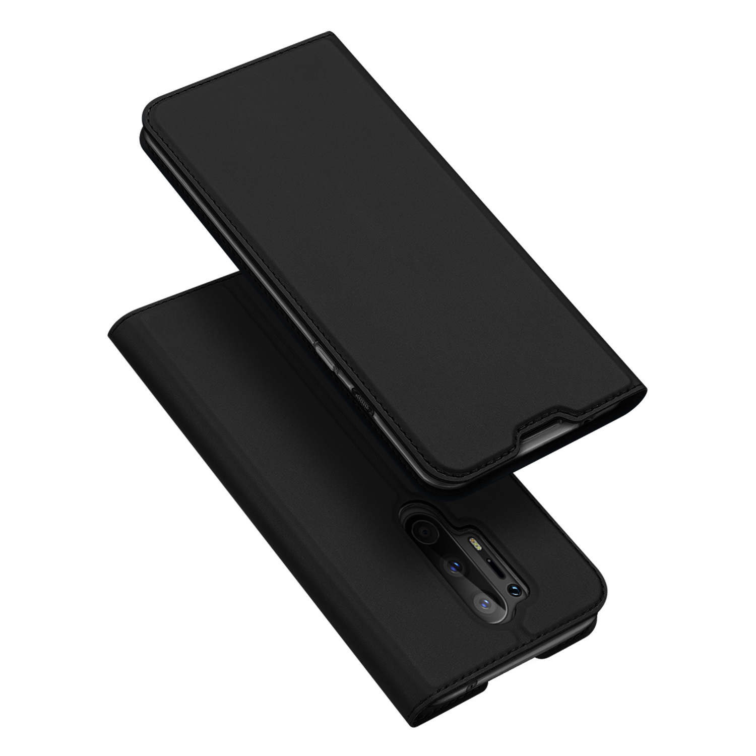 DUX DUCIS For One plus 8 pro Leather Mobile Phone Cover Magnetic Protective Case Bracket with Cards Slot black