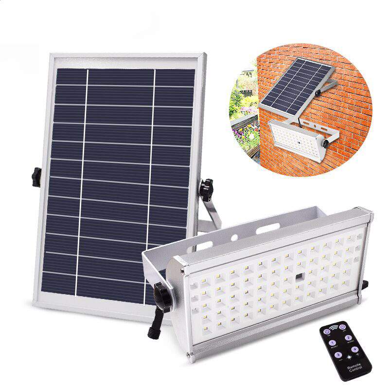 65LEDs/46LEDs 12W/6W Solar Energy Human Body Induction Projector Lamp with Remote Control 65LED radar sensor + remote control