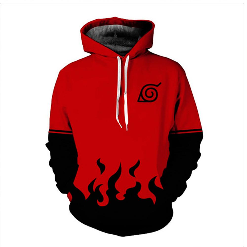 Men Women 3D Printing Casual Hooded Sweatshirt  red_M