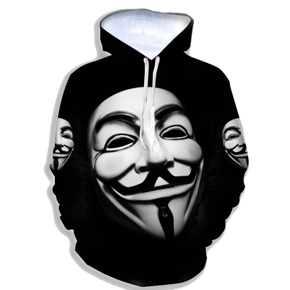 Men Women 3D Printing Hooded Sweatshirts Baseball Uniform for Lovers black_XXXL