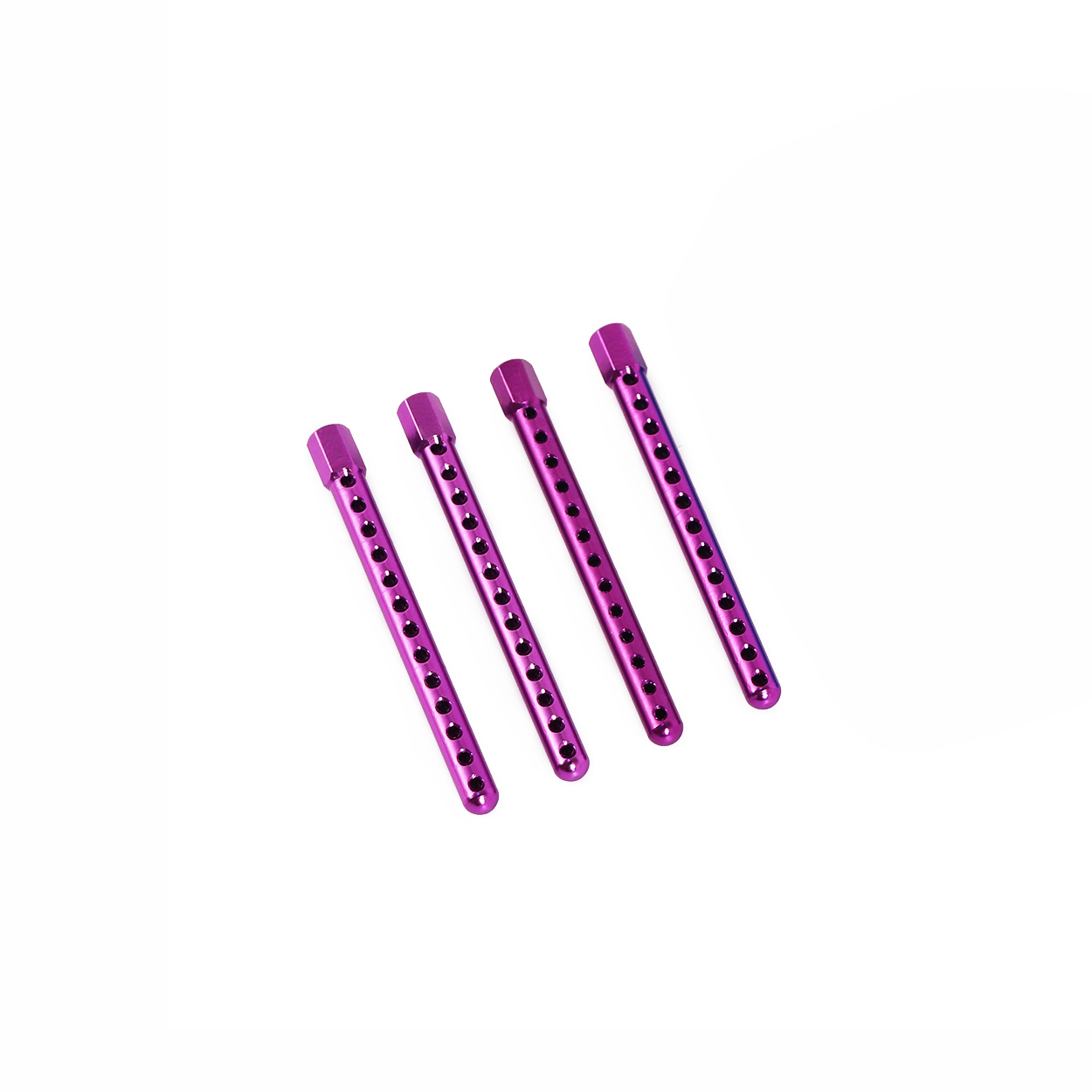 Aluminum Aolly Car Shell Column Body Mounts 122037 02010 HSP 1:10 Upgrade Parts For 94102 94122 94123 purple