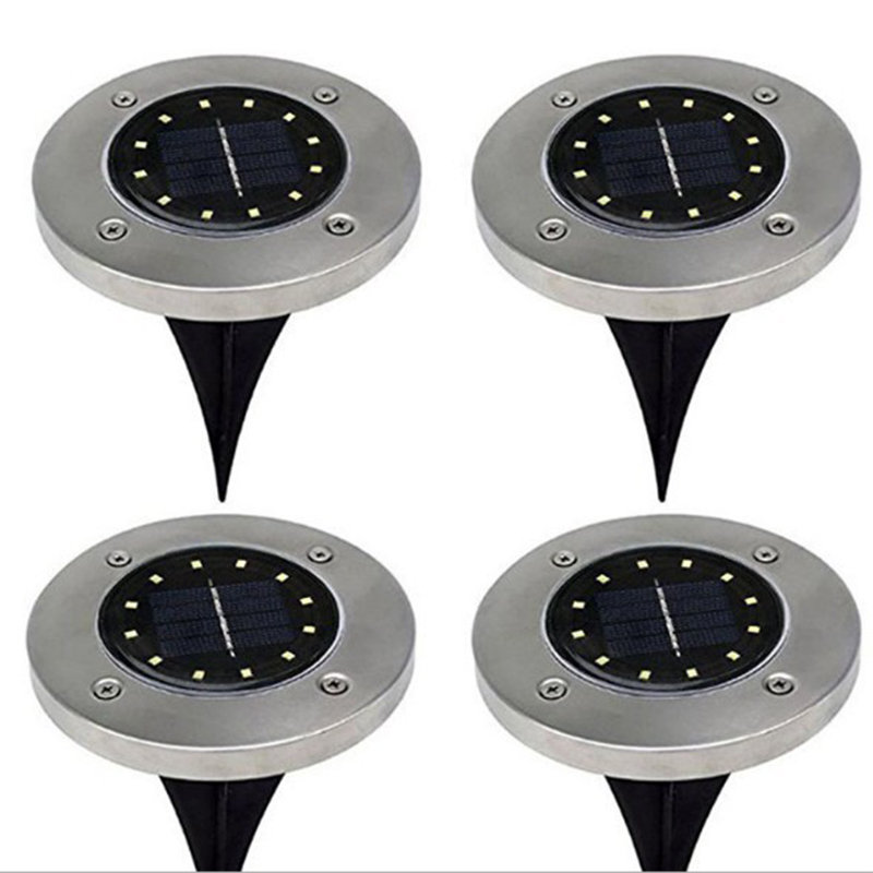 12 LED Solar-powered Buried Light Outdoor