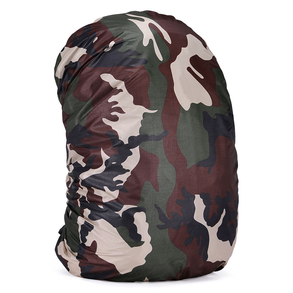RainCover 35-80L Lightweight Waterproof Backpack Bag Rain Cover For Travel Bag camouflage_70 liters (XL)