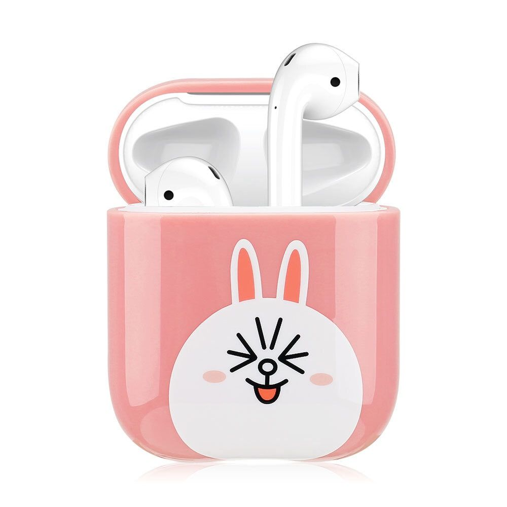 Cartoon Wireless Bluetooth Earphone Cases For Apple AirPods Charging Headphones For Airpods Protective Cover Pink