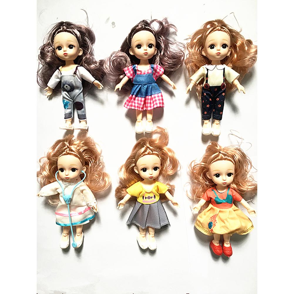 Children  Simulation  Dolls  Toys Fabric 6 Inch 17cm 13 Joint Doll Scene Dolls Girl Toy 6 styles/bag
