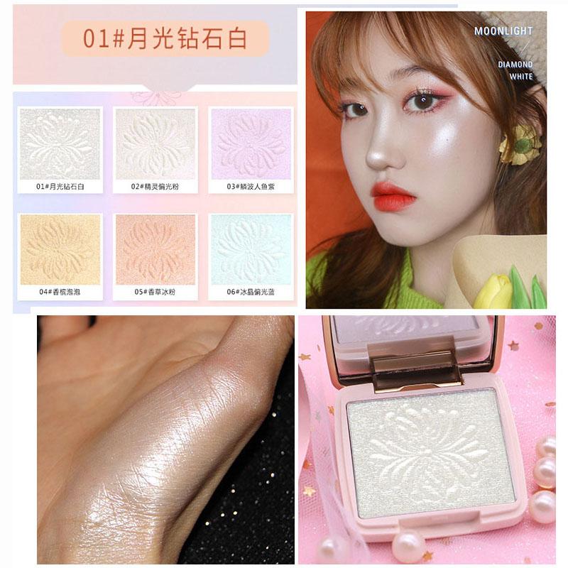 [Indonesia Direct] NOVO Highlighter Women Brighten Face Foundation Palette Highlighter Cosmetics Makeup Face Palette