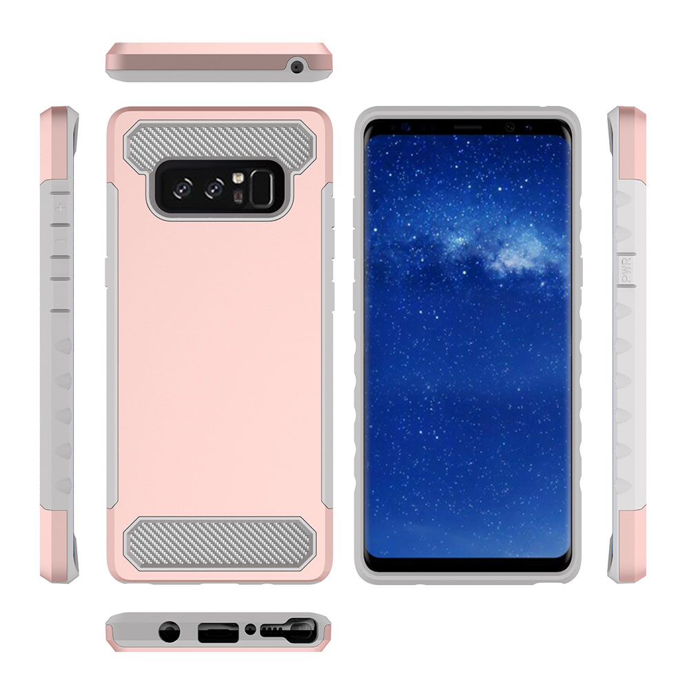 For Samsung Note 8 PC+ Silicone 2 in 1 Anti-fall Back Cover Protective Case