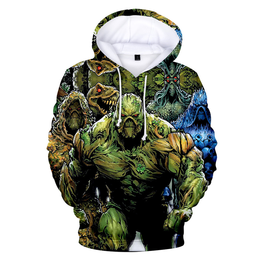 American TV Thriller Superhero Swamp Thing Suede Hoodies A style_S