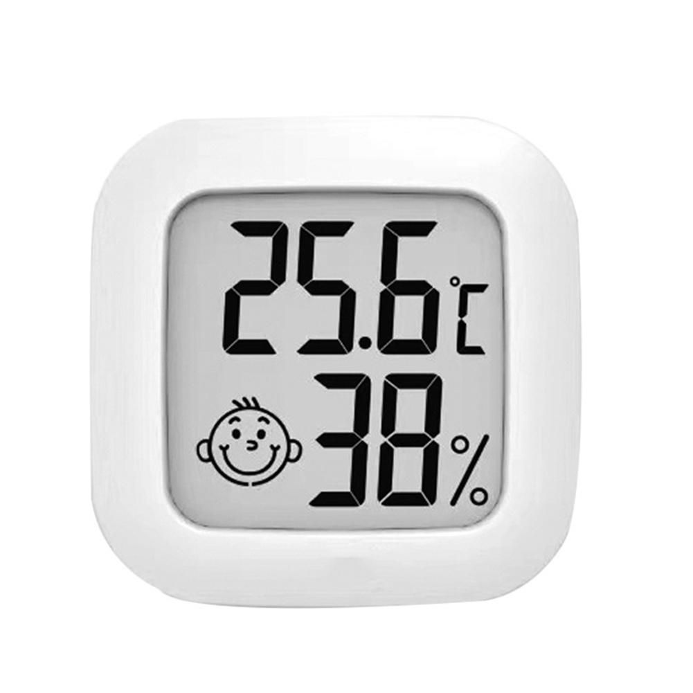 Indoor Lcd Digital Multifunctional Thermometer Hygrometer Humidity Sensor Measurement  Accessories white