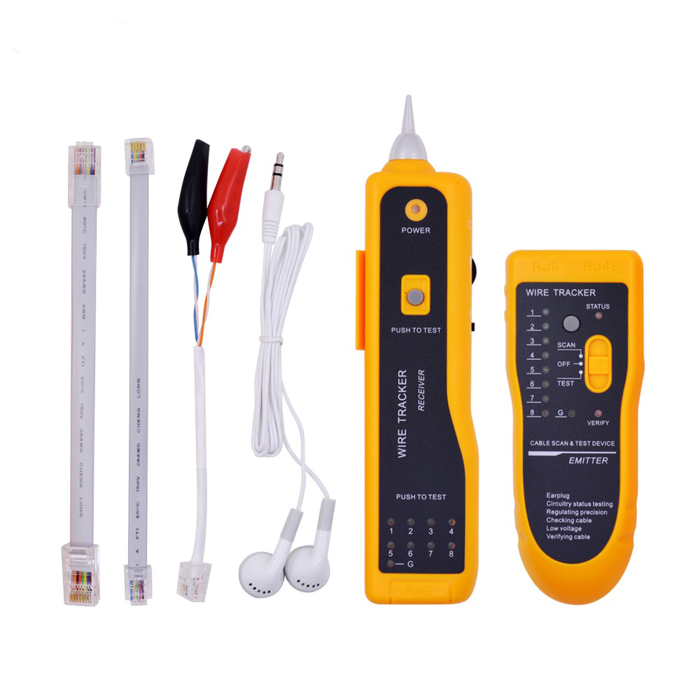 JW-360 Telephone Wire Tracker Tracer Toner Ethernet LAN Network Cable Tester Detector Line Finder As shown