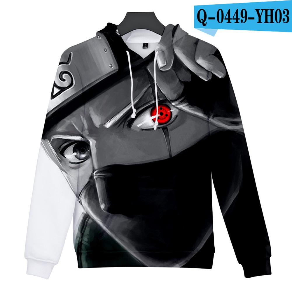Men Women 3D Naruto Series Digital Printing Loose Hooded Sweatshirt Q-0449-YH03 H_M