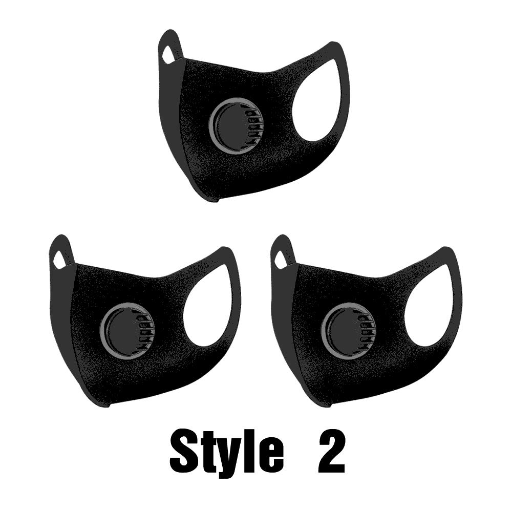 3Pcs Fashionable Universal 3D Stereo Cleanable Dust Sponge Masks 3PCs