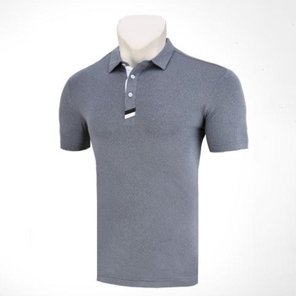 Golf Clothes Male Short Sleeve T-shirt Summer Golf Ball Uniform for Men flecking gray_XXL