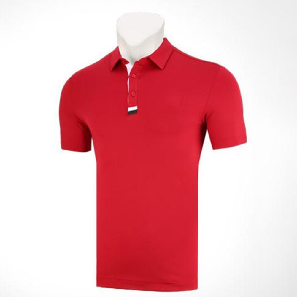 Golf Clothes Male Short Sleeve T-shirt Summer Golf Ball Uniform for Men red_L