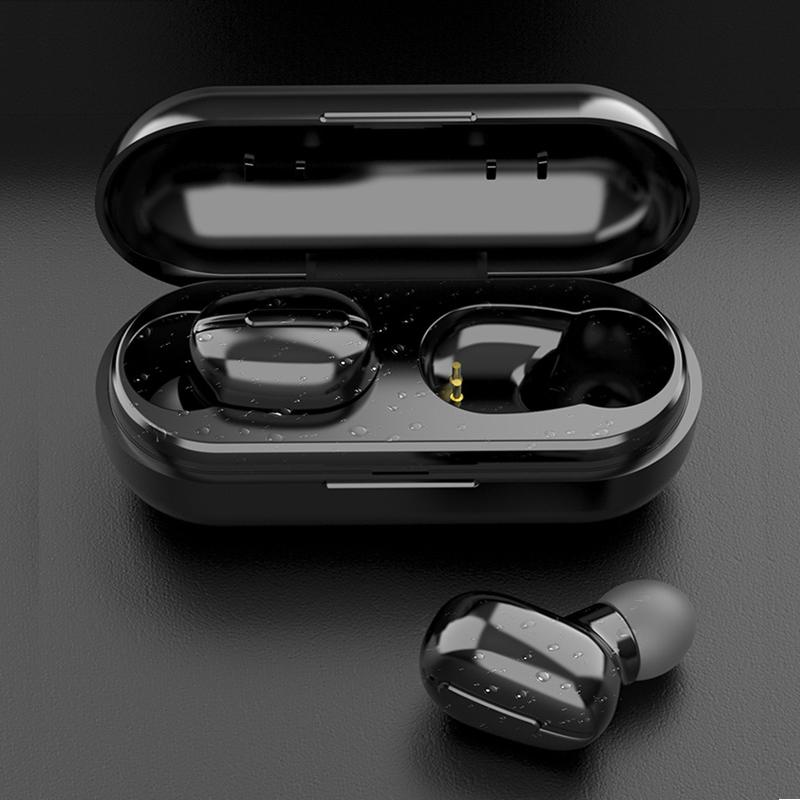 L13 TWS Bluetooth Headphones Wireless Waterproof Sports Earbuds Music Earphones black