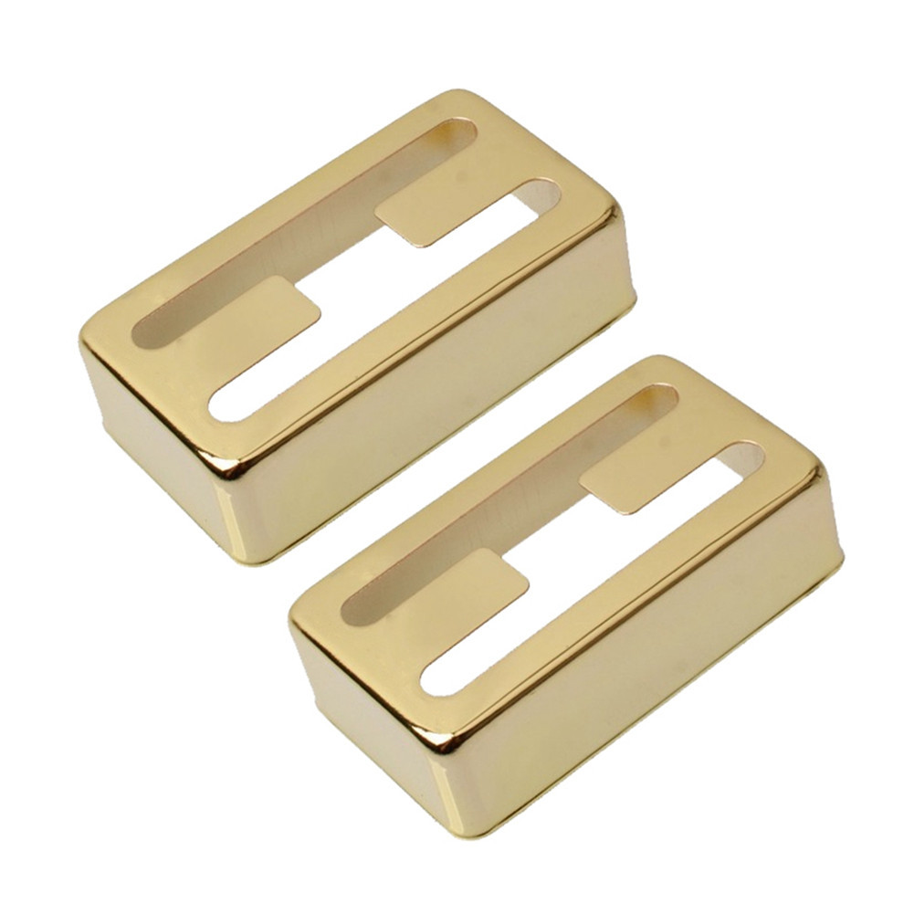 2 Pcs/set Electric Guitar Pickup Cover H-shaped Pickup Cover for Lollartron Golden