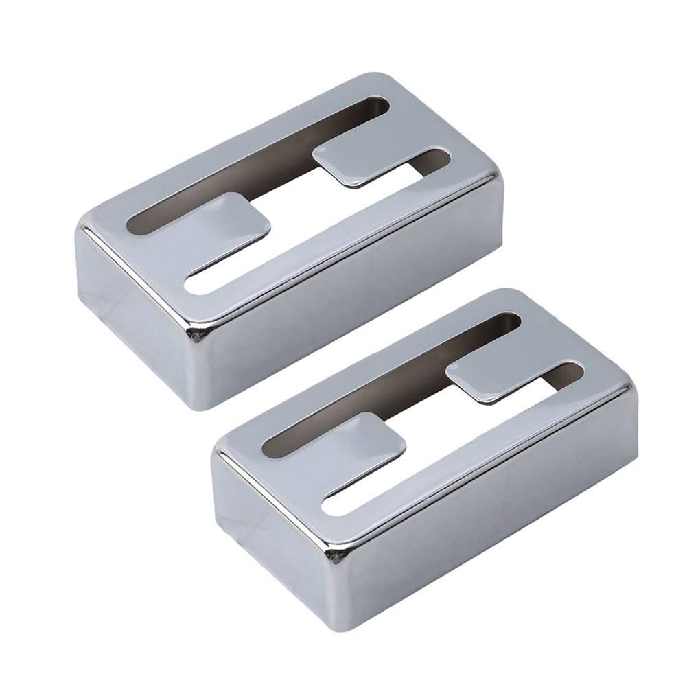 2 Pcs/set Electric Guitar Pickup Cover H-shaped Pickup Cover for Lollartron Silver