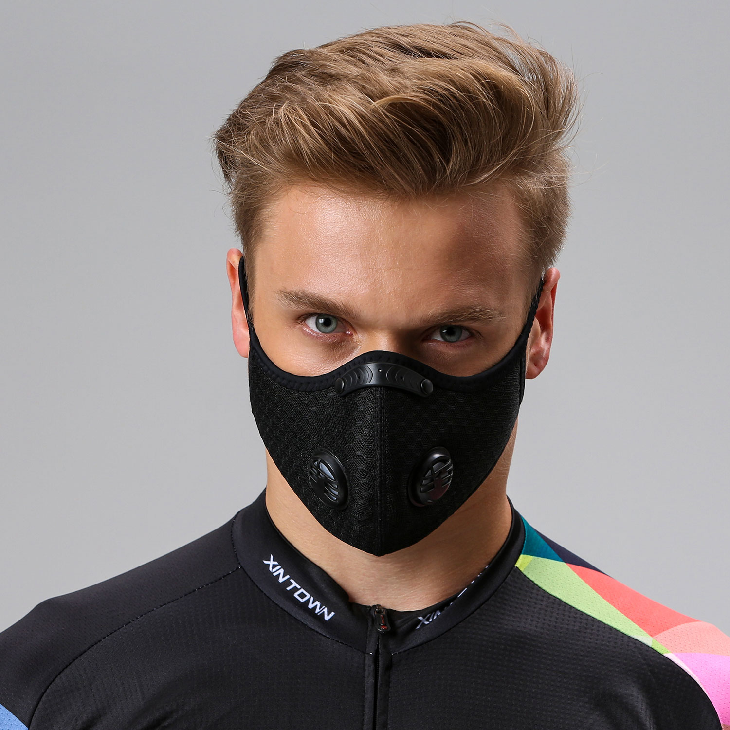 Cycling Mask With Filter Protective Cycling Mask Activated Carbon Anti-Pollution Sport Training Bike Facemask black