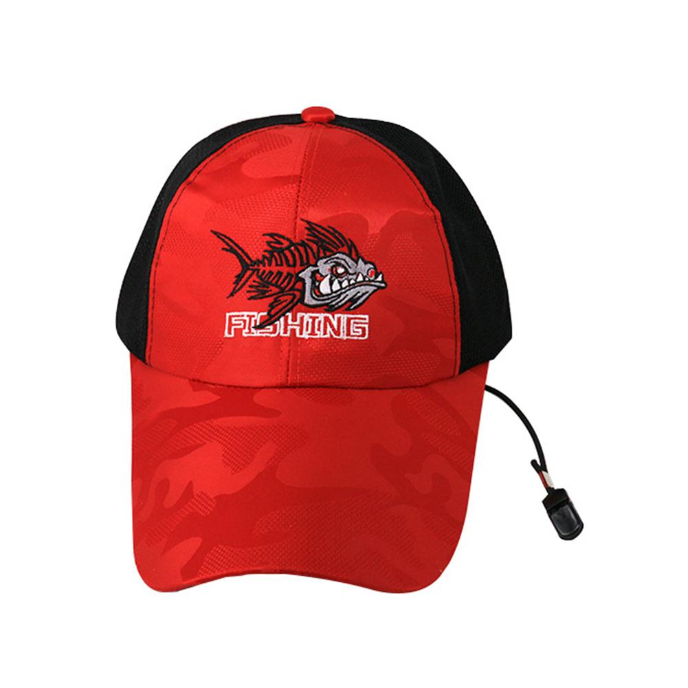 Adjustable Outdoor Sport Fishing Sunshade Sport Mesh Breathable Fishermen Hat Baseball Cap red