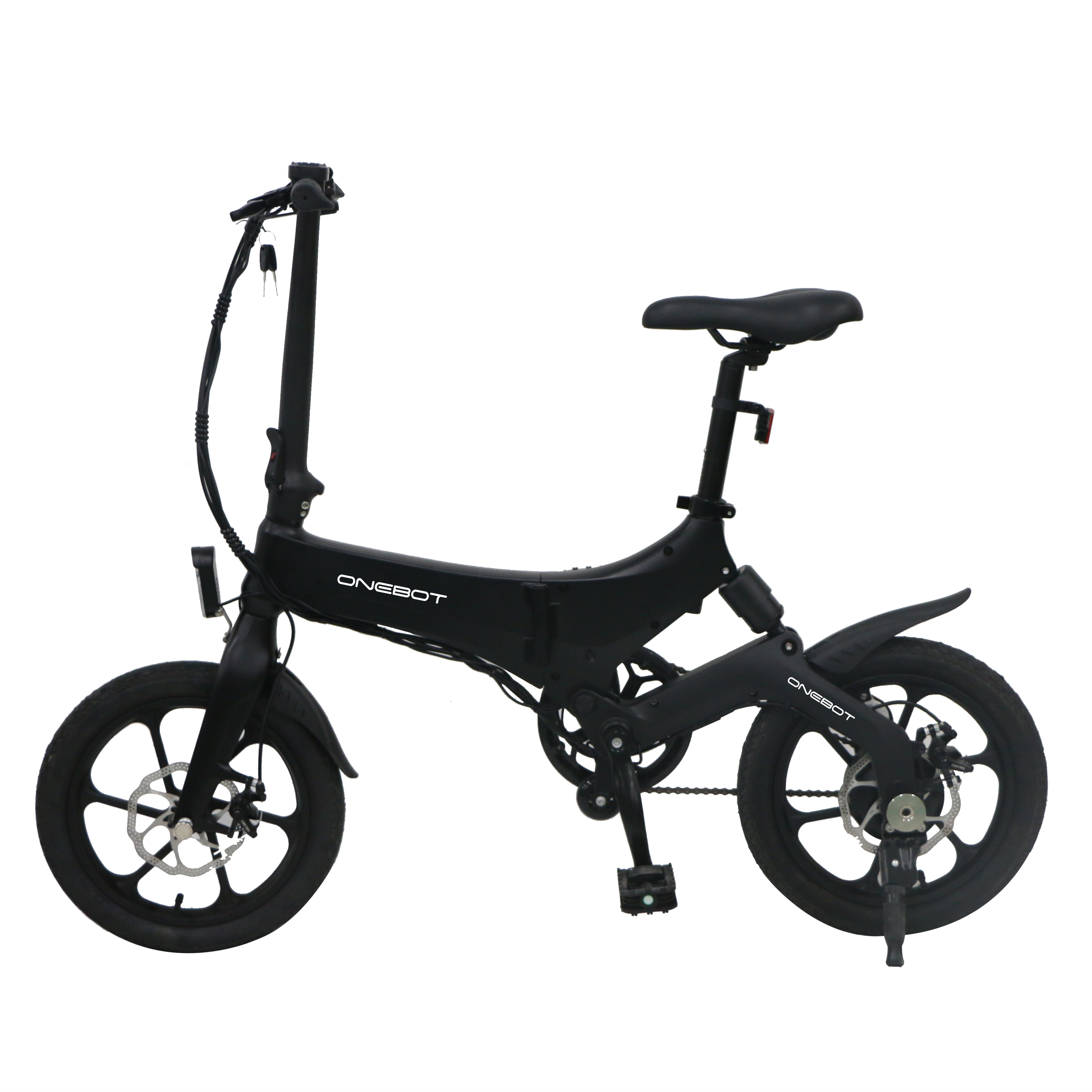 [EU Direct] ONEBOT S6 Electric Bike Foldable Bicycle Variable Speed City E-bike 250W Motor 6.4Ah Battery Max 25Km/h Max Load 120kg black