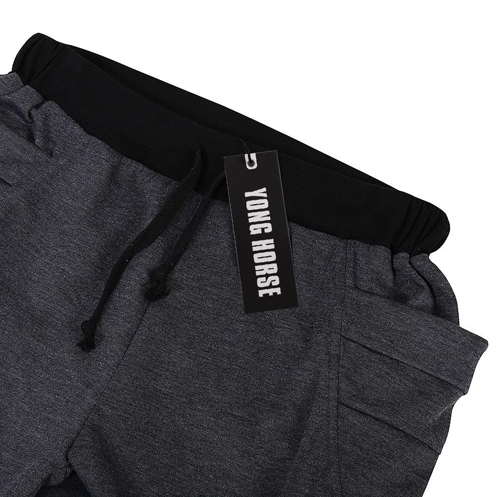 [US Direct] Men's Elastic Force Elastic Waist Pocket Casual Pants Black S Dark gray_Asia L