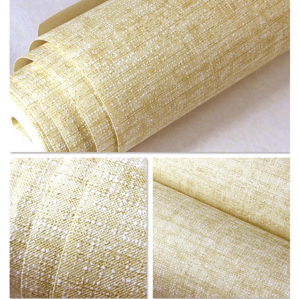 Simple Cloth Grain Non-Woven Wall Sticker Background Wall Decor 10M