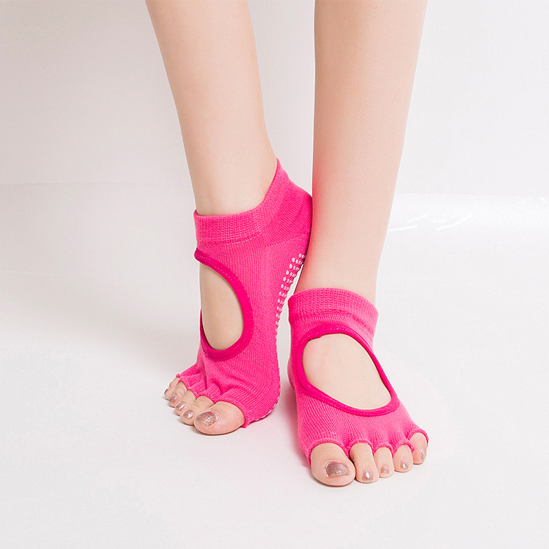 Women Non Slip Yoga Socks Toeless Non