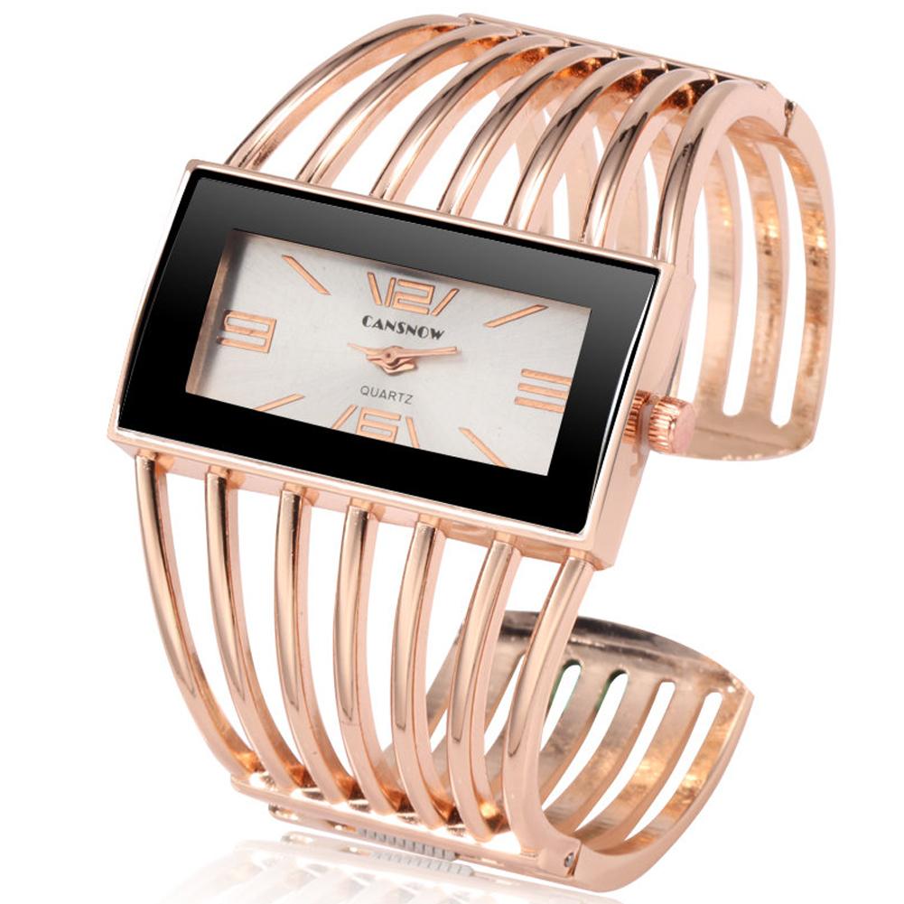 Women Creative Waterproof Alloy Quartz Rectangular Dial Fashion Bracelet Watch Wristwatch 1#