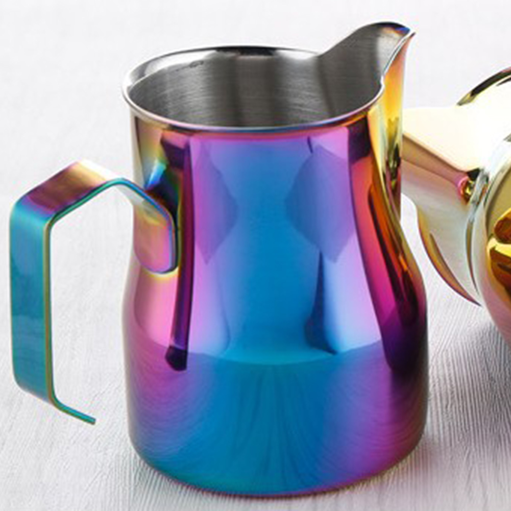 550ml Stainless Steel Frothing Pitcher Pull Flower Cup Coffee Milk Froth Seven colors