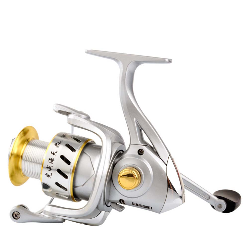 Spinning Fishing Reel 5+1BB Saltwater Metal Fishing Reel 1000