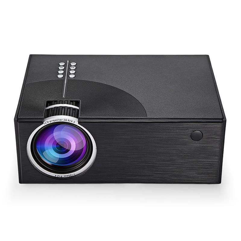 C7 2000 Lumens LED Video Projector Portable LCD Projector For Home Cinema AV USB HDMI VGA 3D LED Beamer black_Standard Edition-European Regulation